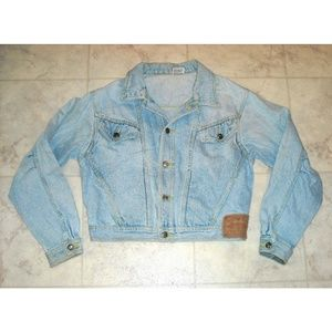 Vintage 1990s Light Wash Distressed Denim Jacket